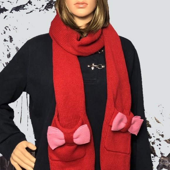 KATE SPADE ♠️ Half Bow Knit Scarf ♠️ NWT